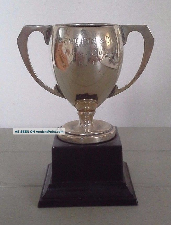 Vintage Silver Trophy,  Silver,  Trophy,  Sporting Trophy,  Trophies,  Antiques Cups & Goblets photo