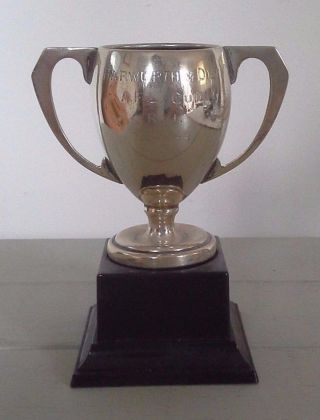 Vintage Silver Trophy,  Silver,  Trophy,  Sporting Trophy,  Trophies,  Antiques photo