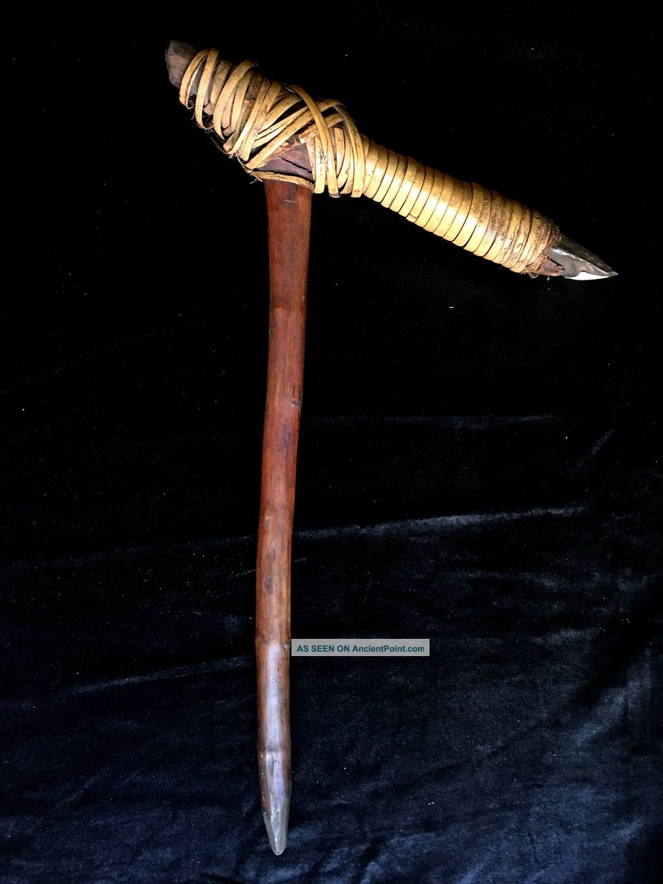 Antique Adze For Sago Food Green Stone From Sepik River Papua Guinea Axe Pacific Islands & Oceania photo