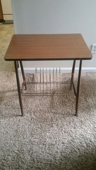 Vintage Mid Century Modern Album/record Table Stand photo