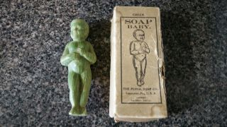 Antique Soap Baby Figurine Green Penna.  Soap Co.  Lancaster,  Pa photo