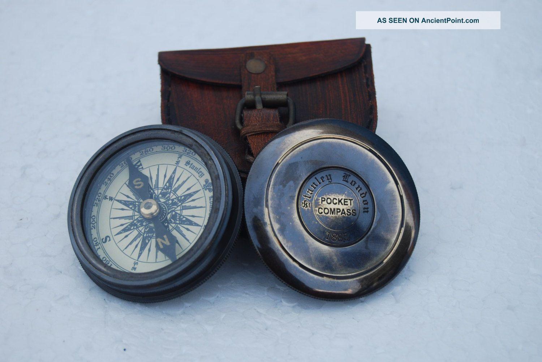 Antique 1885 Pocket Style Vintage London Poem Engraved Brass Compass Case See more Antique 1885 Pocket Style Vintage London Poem ... photo