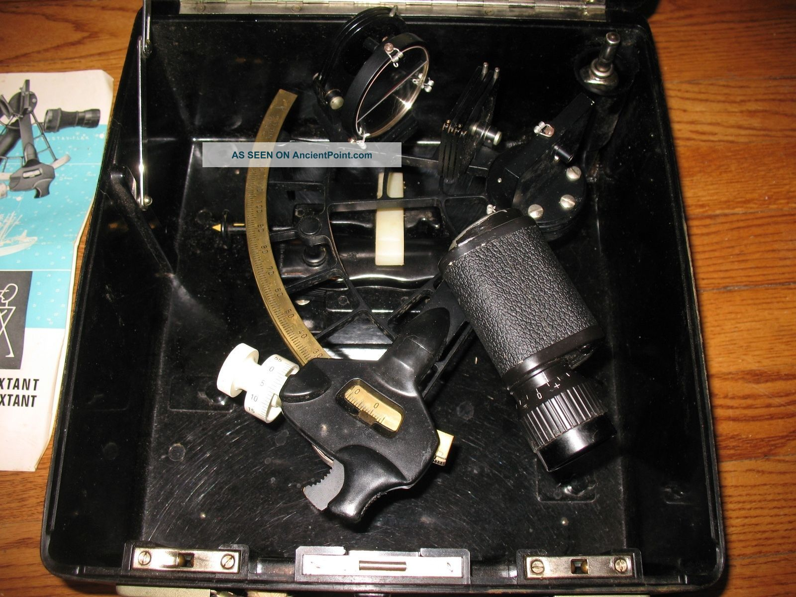 C.  Plath Model 50410 Nautical Micrometer Sextant With Bakelite Case - Germany Sextants photo