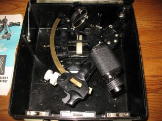 C.  Plath Model 50410 Nautical Micrometer Sextant With Bakelite Case - Germany photo