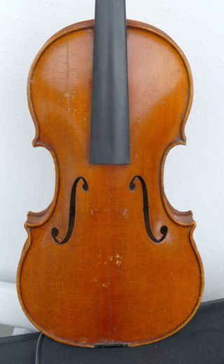 Old German Violin Stamped E R S Ernst Reinhold Schmidt For Repair photo