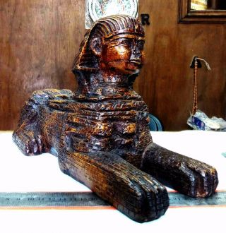 Sphinx Collectable Egyptian Statue Ancient Egypt For Decor Rare Gift 11