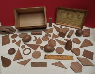 Models ( (mathematical))  Wooden (newmann ' S) Exceptional (boxed) C1890 photo