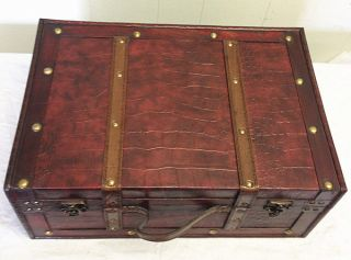 Replica Vintage - Style Wooden Suitcases (hf 020b) photo