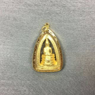 Phra Lp Sothorn Buddha Thai Amulet Pendant Statue Talisman Brass Good Lucky Gem photo