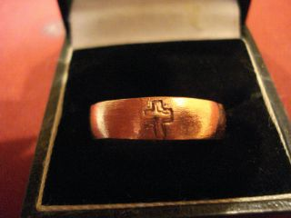 Roman Copper Ring With ' Cross ' - - Detector Find photo