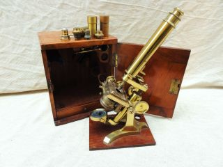 A Brass Microscope By Negretti & Zambra photo