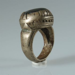9005 Old Tuareg Silver Ring Glass Niger photo