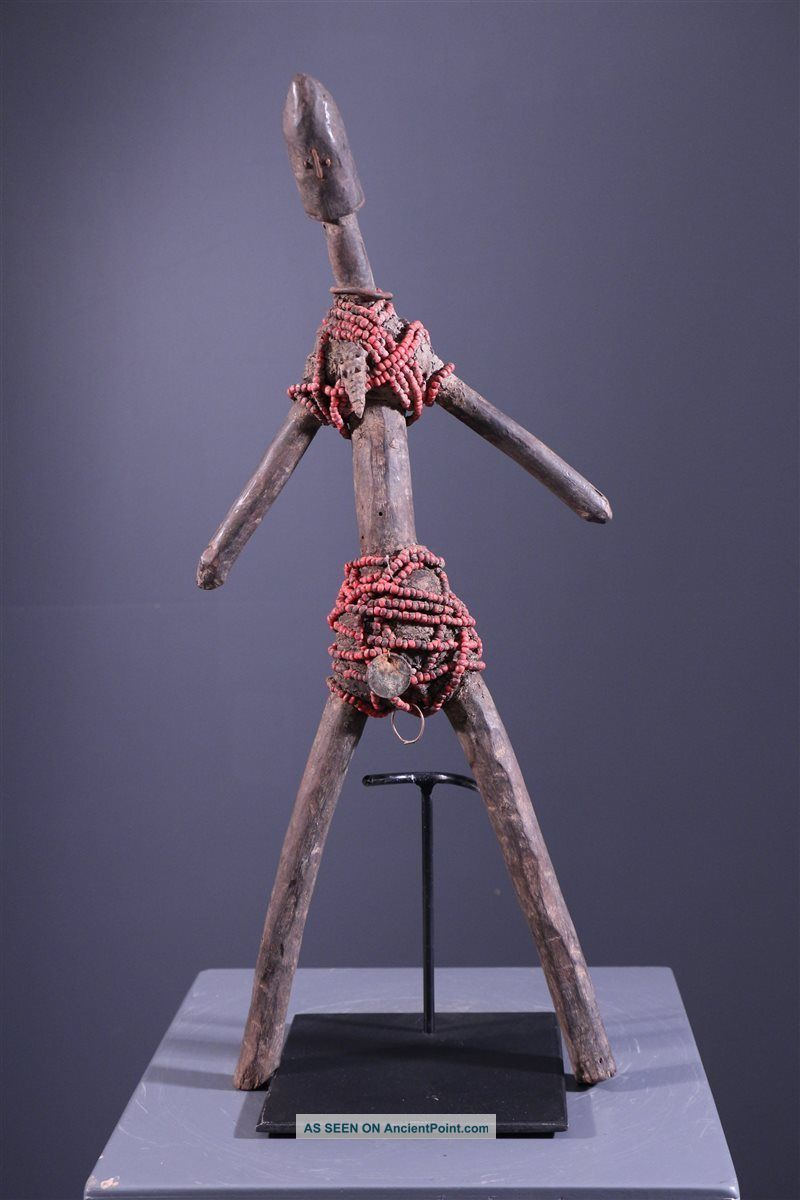 Cameroon: Rare Tribal African Namji Doll Fertility Figure - 53 Cm. Sculptures & Statues photo