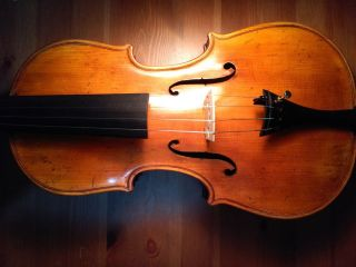Old Antique Italian Violin - By Francesco Maurizi 1852 photo