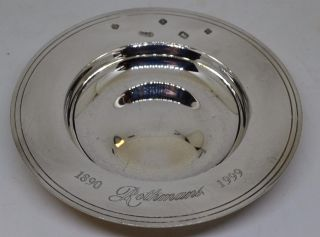 An Unusual Solid Silver Armada Dish By Carr ' S Of Sheffield 2000 - Rothmans photo