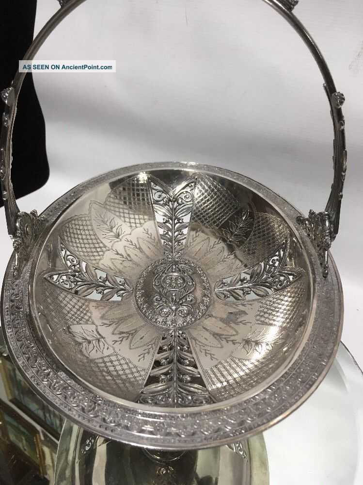 Vtg.  Antique Lg.  Victorian Handled Serving Tray Toronto Silver Plate Co Other Antique Silverplate photo