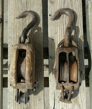 Antique Barn Pulleys photo