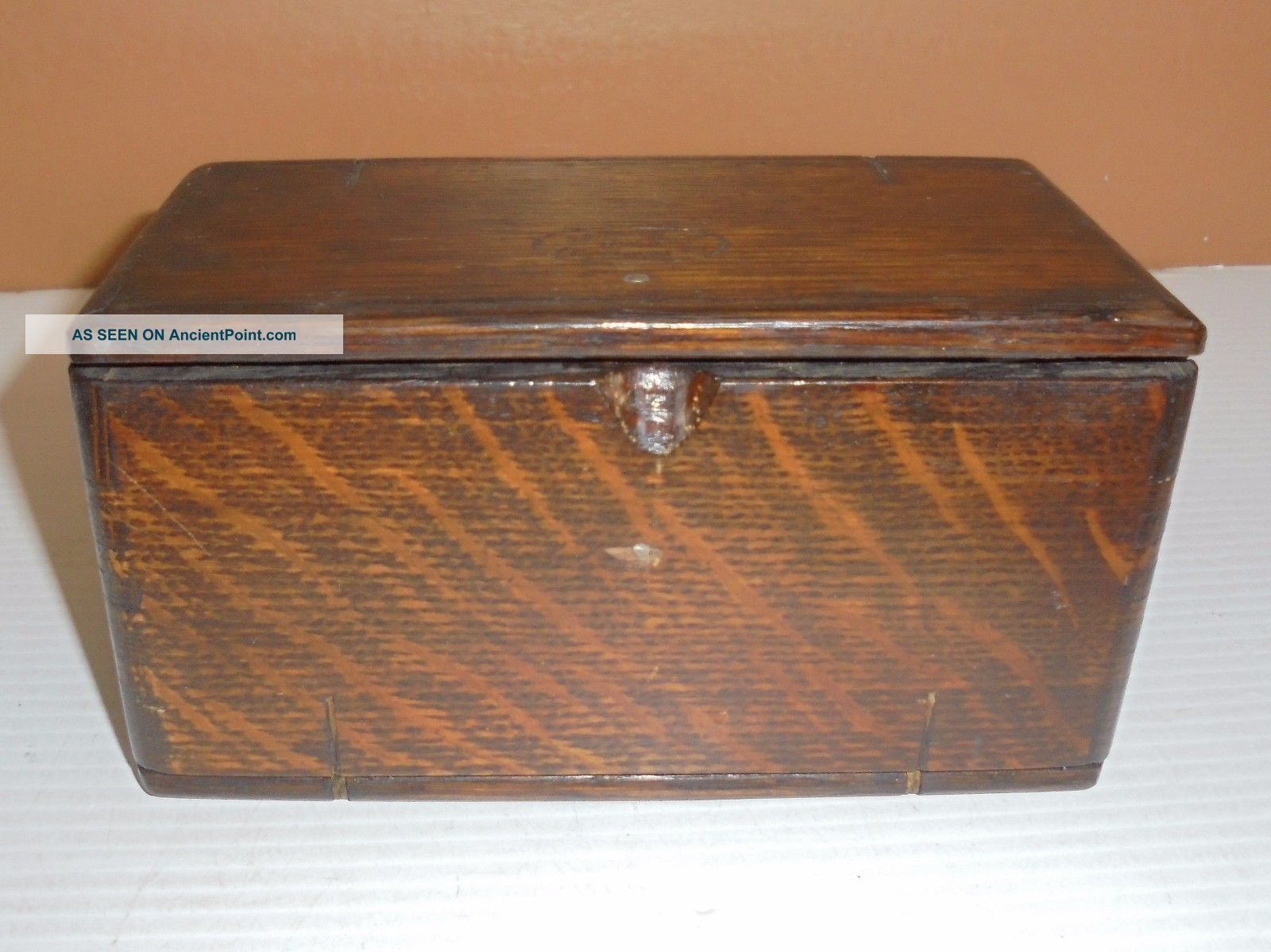 Antique Wood Singer Sewing Folding Box Patent Stamped 1889 W/ Accessories Other Antique Sewing photo