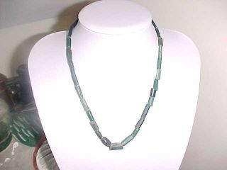Special Offer String Of Roman Green Coloured Glass Beads Circa 200 - 400 A.  D. photo