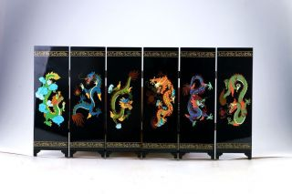 """Good Chinese Lacquer Handwork Painting """"中国龙 Screen Scroll Nr photo"""