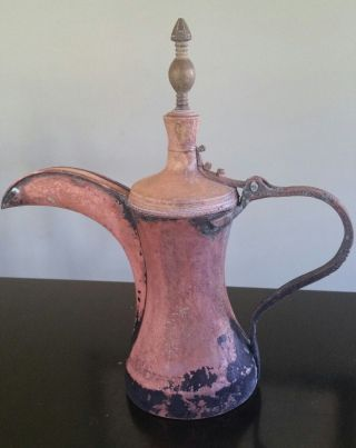 Extremely Rare Large Bedouin Brass/copper Dallah/coffee Pot Saudi Arabia photo