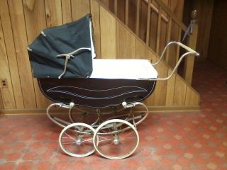 Vintage Baby Carriage Stroller Buggy - 1960s - Bilt Rite photo