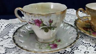 Vintage China Tea Cups And Saucers Victorian photo