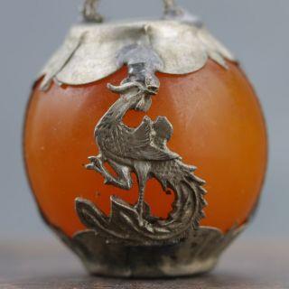 Collectable Beeswax Armor Tibetan Silver Hand - Carve Zodiac Statue - - Dog @ 1 photo