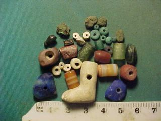 30,  Ancient Beads Circa 1000 Bc - 700 Ad,  Roman Foot Amulet photo