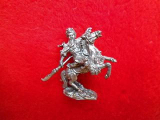 Guan Yu Mini Brass Statue Thai Amulet Help Fortune Power photo