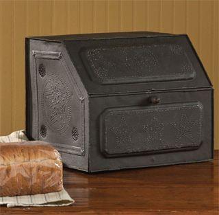 Antique Replica Of Tin Bread Box/desk Storage 21 - 190 photo
