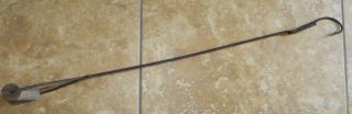 Old Primitive Fishing Spearing Gaff Stick Hook photo