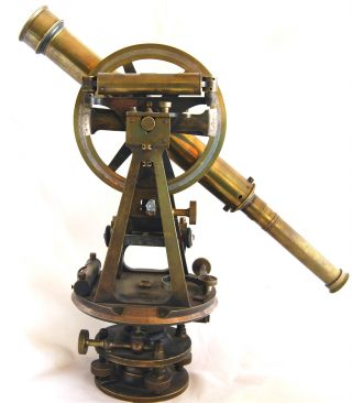 Flavelle Bros & Roberts Antique Surveyor Theodolite Sydney & Brisbane 19 Century photo