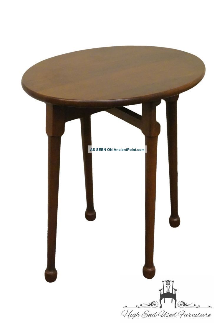 Willett Solid Cherry Fold Up Stool Side Table