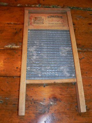 Vintage National The Zinc King 703 Lingerie Washboard,  Usa photo