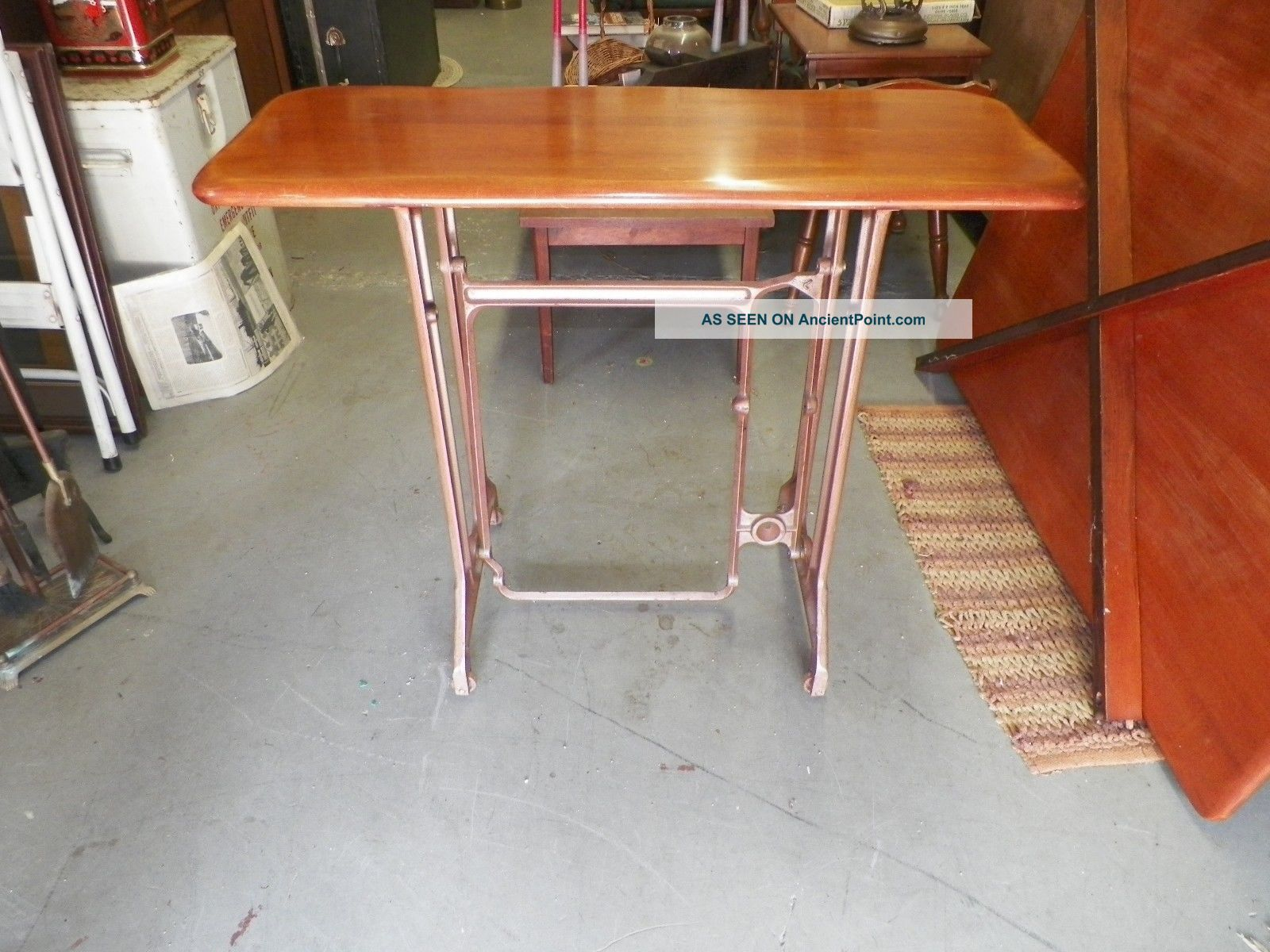 Antique Sewing Machine Treadle Custom Build Table Base Steam Punk Industrial Sewing Machines photo