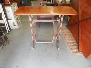 Antique Sewing Machine Treadle Custom Build Table Base Steam Punk Industrial photo