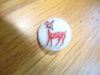 Vintage Antique Bambi Deer Button 3/8