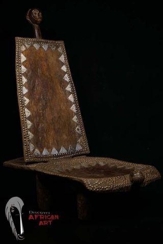 Discover African Art Old Nyamwezi Chair Tanzania photo