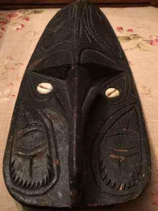 Authentic Handmade Ceremonial Mask (papua Guinea) photo
