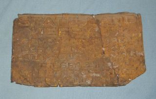 Antique Idaho State Land Keep Off Metal Sign Isaac Nash Commissioner 1919 Rusty photo
