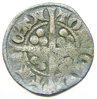 Medieval Silver Penny Of King Edward I Minted In Canterbury 1279 - 1307 A.  D. photo