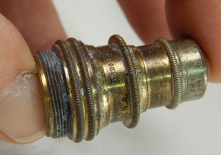 Antique Bausch And Lomb Microscope Lens 1880 ' S photo