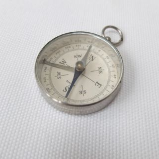 Vintage German Pocket Compass Old Antique C.  1940s photo