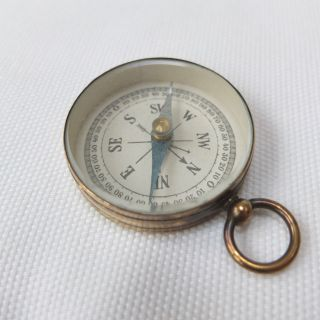 Antique Vintage Stesco Brass Pocket Compass,  Germany C.  1940s photo