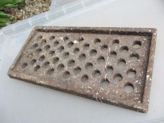 Vintage Cast Iron Drain Cover Manhole Grate Antique Gothic Vent 7