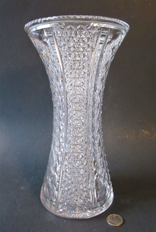 Rare Hawkes American Brilliant Kohinoor St Louis Diamond Cut Glass 11