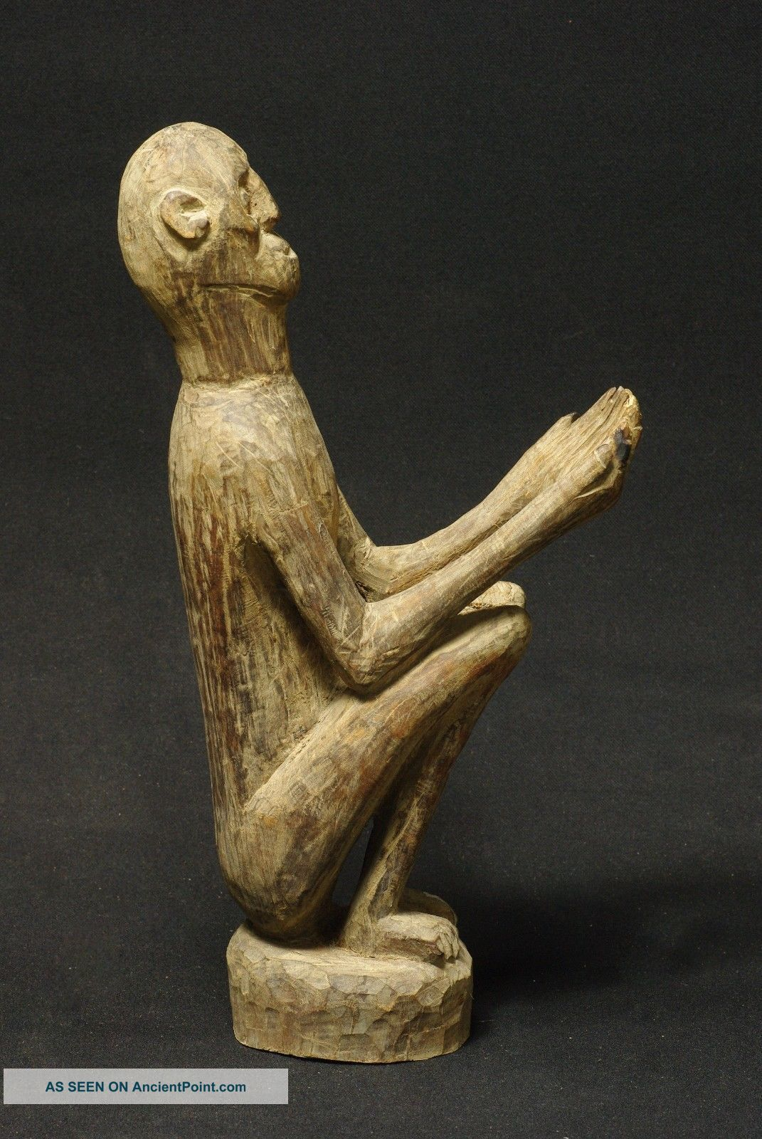 Expressive Figure Of Ancestor With Outstreched Hands - Timor - Indonesia Pacific Islands & Oceania photo