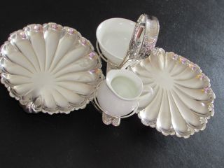 Victorian Sheffield Silver Plate Hors D ' Oeuvres Scallop`shells Serving Dish photo