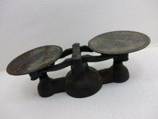 Vintage Antique Balance Counter Weight Scale Cast Iron Old Mercantile photo